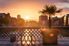Por do sol Dublin Ireland Foto de Stock