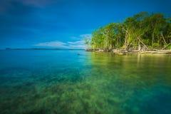 Por do sol e nascer do sol bonitos da ilha do mentawai Imagem de Stock Royalty Free