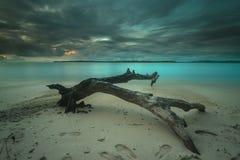 Por do sol e nascer do sol bonitos da ilha do mentawai Imagem de Stock