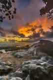 Por do sol e nascer do sol bonitos da ilha do mentawai Fotografia de Stock