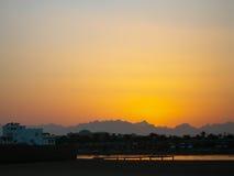 Por do sol Egito Imagens de Stock