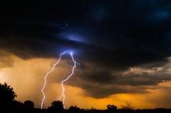 Por do sol elétrico Imagens de Stock