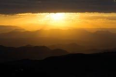 Por do sol em África Imagem de Stock Royalty Free
