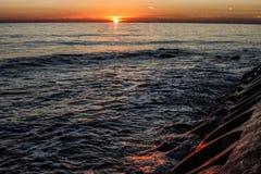 Por do sol em Ä°stanbul Imagens de Stock Royalty Free