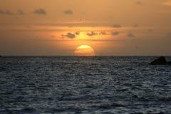 Por do sol em Abrolhos Imagens de Stock