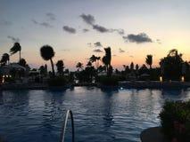 Por do sol em Acapulco Foto de Stock