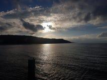 Por do sol em Ahlbeck fotografia de stock royalty free