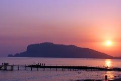 Por do sol em Alanya Imagens de Stock Royalty Free