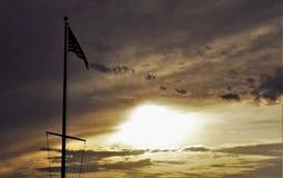 Por do sol em América Imagem de Stock Royalty Free