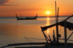 Por do sol em Anilao Imagem de Stock Royalty Free