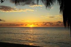 Por do sol em Antígua imagens de stock royalty free