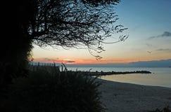 Por do sol em Antibes Imagem de Stock