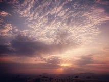 Por do sol em aqaba Imagens de Stock Royalty Free