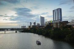 Por do sol em Austin do centro Fotografia de Stock