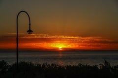 Por do sol em Austrália Foto de Stock