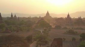 Por do sol em Bagan video estoque