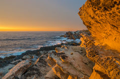 Por do sol em Baleal Foto de Stock Royalty Free