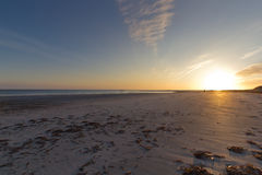 Por do sol em Baleshare Fotografia de Stock