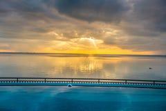 Por do sol em Belitung fotos de stock