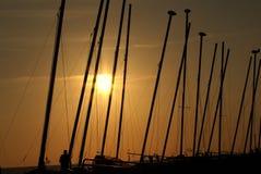 Por do sol em Brigghton Imagem de Stock