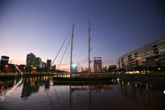 Por do sol em Buenos Aires Fotografia de Stock Royalty Free