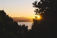 Por do sol em Byron Bay Fotografia de Stock