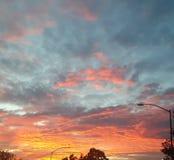 Por do sol em Califórnia imagens de stock royalty free