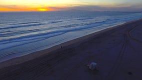 Por do sol em Califórnia Imagem de Stock