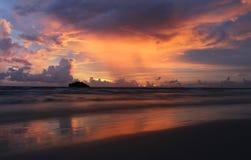 Por do sol em Cambodia Imagem de Stock Royalty Free