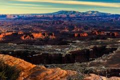 Por do sol em Canyonlands Imagem de Stock