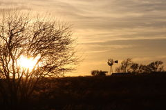 Por do sol em casa Fotos de Stock Royalty Free