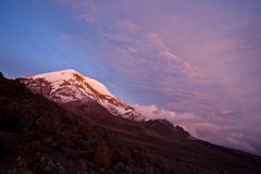 Por do sol em Chimborazo Foto de Stock Royalty Free