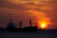 Por do sol em Cienfuegos, Cuba Imagens de Stock Royalty Free