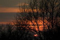 Por do sol em Collsacabra Imagens de Stock Royalty Free