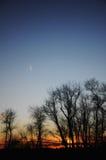 Por do sol em Connecticut Fotos de Stock Royalty Free