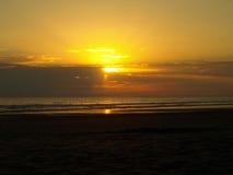 Por do sol em Costa Rica Imagem de Stock