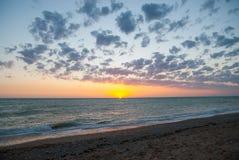 Por do sol em Crimeia Fotografia de Stock