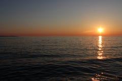 Por do sol em Croatia imagens de stock