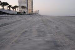 Por do sol em Daytona Beach fotografia de stock
