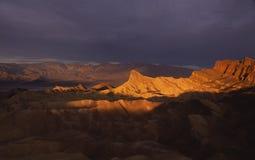 Por do sol em Death Valley Fotografia de Stock