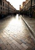 Por do sol em Dubrovnik fotografia de stock royalty free
