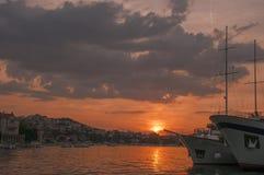 Por do sol em Dubrovnik, Croatia fotos de stock