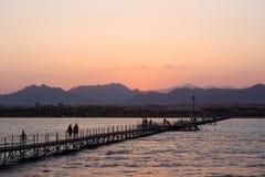 Por do sol em Egipto Foto de Stock