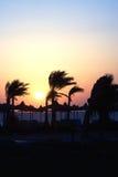 Por do sol em Egipto Fotografia de Stock Royalty Free