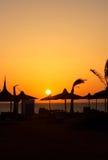 Por do sol em Egipto Fotos de Stock Royalty Free