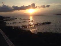 Por do sol em Emerald Isle Imagens de Stock Royalty Free