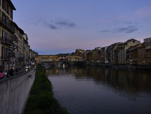 Por do sol em Florença Fotos de Stock