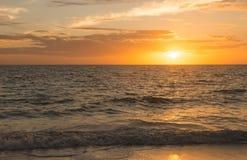 Por do sol em Fort Myers Fotos de Stock