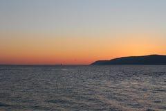 Por do sol em Gallipoli Fotos de Stock Royalty Free