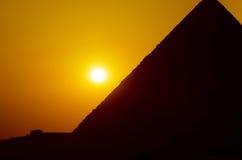 Por do sol em Giza Imagens de Stock